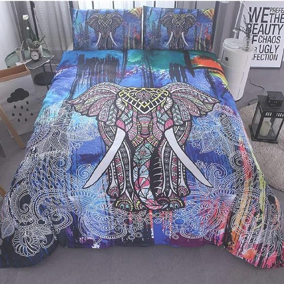 Bedding Bohemian Elephant Set King Poshmark